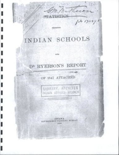 Residential Schools Facts