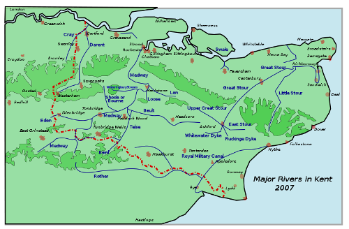 the River Medway Map