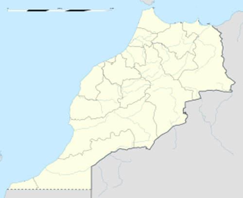 rabat morocco map