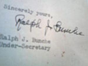 ralph bunche signature