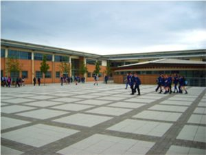 rathmore grammar school courtyard