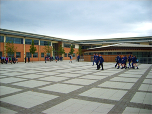 rathmore grammar school courtyard