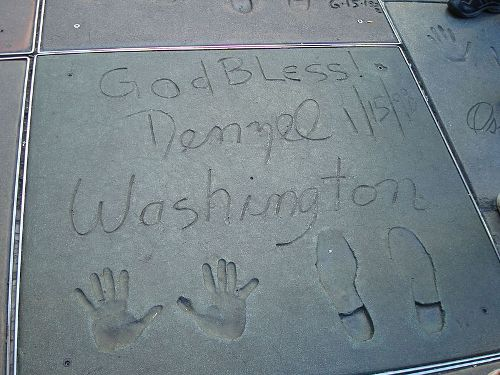 Denzel Washington Handprint