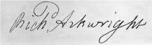 Richard Arkwright Signature