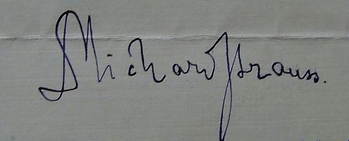 Richard Strauss Signature