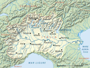 the River Po Map