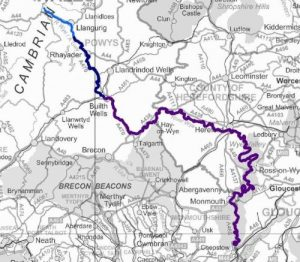 the River Wye Map