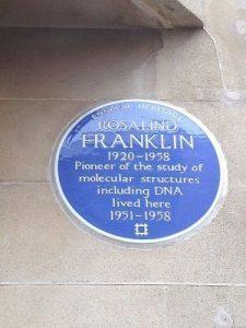 Rosalind Franklin Plaque