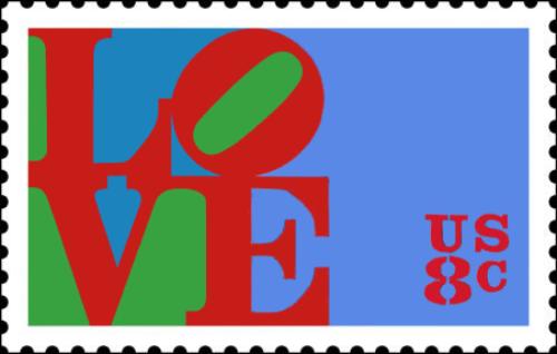 Robert Indiana Work Stamp